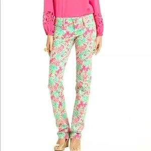 Lilly Pulitzer Worth Straight Jean Orchid Pink Spi